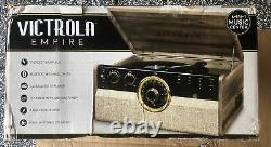 Victrola 6-in-1 Wood Empire Bluetooth Record Player, CD, Cassette Player & Radio