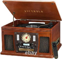 Victrola 8-In-1 Bluetooth Record Player & Multimedia Center, Built-In Stereo Spe