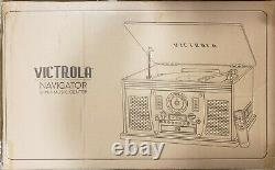 Victrola 8-in-1 Bluetooth Record Player & Multimedia Center, Built-in Stereo
