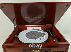 Victrola 8-in-1 Bluetooth Record Player & Multimedia Center Wireless Bluetooth
