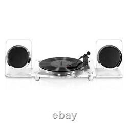 Victrola Acrylic Bluetooth 40 watt Record Player with 2-Speed Turntable and