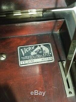 Victrola Antique Victor Upright Victrola Talking Machine Record Player