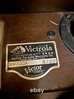 Victrola Antique Victor Upright Victrola Talking Machine Record Player Grenada