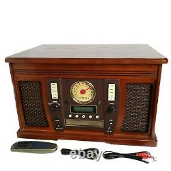 Victrola Aviator 8-in-1 Bluetooth Record Player & Multimedia Center with Buil