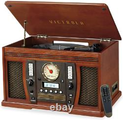 Victrola Aviator 8-in-1 Bluetooth Record Player & Multimedia Center with Stereo