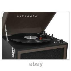 Victrola Bluetooth Vinyl Record Player Stand 3-Speed Turntable & FM Radio