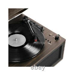 Victrola LIberty Record Player Stand Bluetooth FM Radio USB + Recorder Espresso