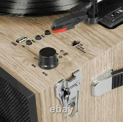 Victrola Liberty 5-in-1 BT Record Player Stand with 3-Speed Turntable NewithOpen b