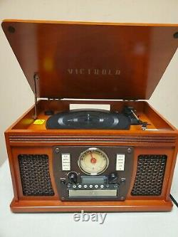 Victrola Navigator 8-In-1 Classic Bluetooth Record Player VTA-600B No Remote
