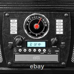Victrola Navigator 8-in-1 Bluetooth Record Player & Multimedia Center Black