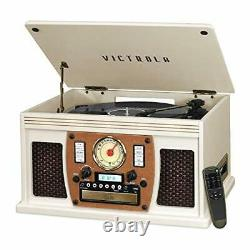 Victrola Navigator 8-in-1 Bluetooth Record Player & Multimedia Center with Bu