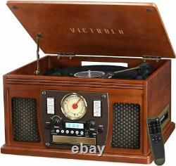 Victrola Navigator 8-in-1 Classic Bluetooth Record Player with USB