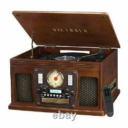 Victrola Navigator 8-in-1 Classic Bluetooth Record Player with USB Encoding