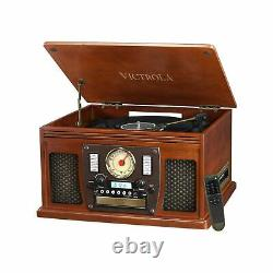 Victrola Navigator 8-in-1 Classic Bluetooth Record Player with USB Encoding a