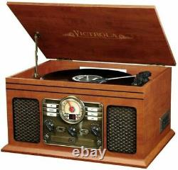 Victrola Nostalgic 6-in-1 Bluetooth Record Player & Multimedia Mahogany