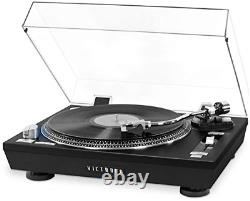 Victrola Pro Series USB Record Player with 2-Speed Turntable and Dust Cover