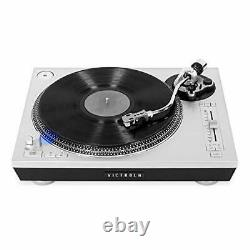 Victrola Pro Series USB Record Player with 2-Speed Turntable and Dust Cover S