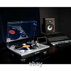 Victrola Pro Series USB Record Player with2-Speed Turntable and DustCover Silver