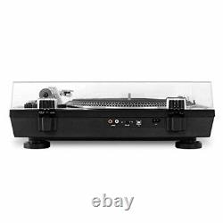 Victrola Pro USB Record Player technics 2-Speed Turntable Dust Cover, Black