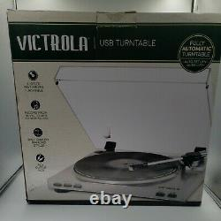 Victrola Pro USB Record Player with 2-Speed Turntable and Dust Cover Silver V