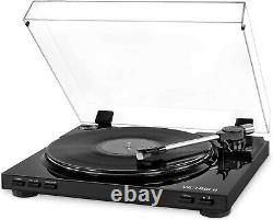 Victrola Pro Usb Record Player With 2-Speed Turntable And Dust Cover, Black