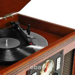Victrola Record Player 8-in-1 tooth AUX USB Recording CD Cassette FM Radio