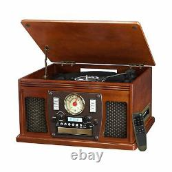 Victrola Record Player Bluetooth Turntable USB Encoding Entertainment Center New