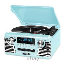 Victrola Retro Record Player Stereo Bluetooth USB Encoding CD FM AM V50-200-TEL