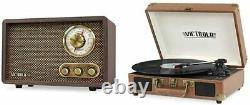 Victrola Retro Wood Bluetooth RadioVintage Bluetooth Portable Record Player