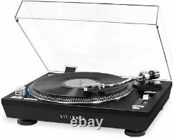Victrola VPRO-2000-BLK USB Record Player w 2 Speed Turntable Dust Cover