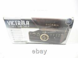 Victrola VTA-370B 7-in-1 Wood Bluetooth Retro 3-speed Record Player CD Cassette