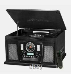 Victrola VTA-600B-BLK Navigator 8-in-1 Classic Bluetooth Record Player Turntable