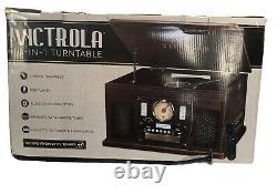 Victrola VTA-600B-ESP 8-in-1 Nostalgic Record Player with Turntable Espresso