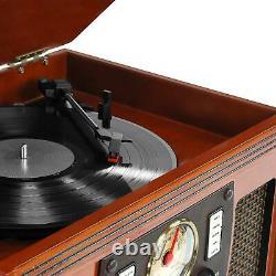 Victrola Wood 8-in-1 Nostalgic Bluetooth Record Player USB Encoding 3-speed