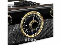 Victrola Wood Metropolitan Mid Century Bluetooth Record Player 3-Speed Turntable
