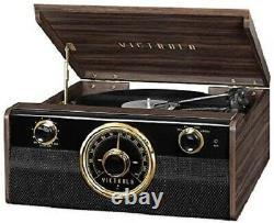 Victrola Wood Metropolitan Mid Century Modern Bluetooth Record Player 3-Speed