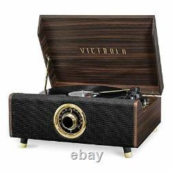 Victrola's 4-in-1 Highland Bluetooth Record Player with 3-Speed Turntable wit