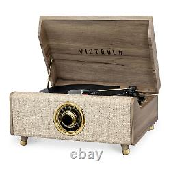 Victrola's 4-in-1Bluetooth Record Player with 3-Speed Turntable with FM Radio