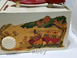 Vintage Alice in Wonderland Victrola Record Player