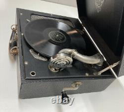 Vintage Portable RCA Victrola Suitcase Phonograph Record Player Tested Working