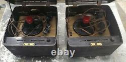 Vintage RCA Victor 45-EY-3 Victrola Record Player Rare Bakelite Repair/Parts 2ea