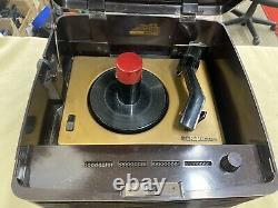 Vintage RCA Victor 45-EY-3 Victrola Record Player Rare Bakelite Works Great