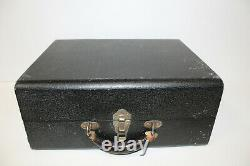 Vintage RCA Victor Victrola Portable Record Player Black Suitcase Tested Working
