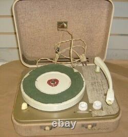 Vintage RCA Victor Victrola Portable Record Player Turntable 9-EMP-21K
