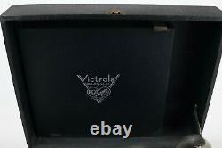 Vintage Victrola Phonograph Model 02 Black Suitcase Portable 1940s Record Player
