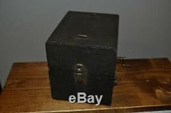 Vintage Victrola Portable Phonograph Player Pocket Gramophone Thorens