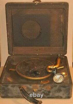 Vintage Victrola Victor Talking Machine Co. Camden NJ Record Player AS IS parts