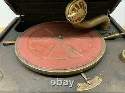 WORKS! Vintage Antique Portable RCA Victrola Suitcase ORTHOPHONIC Record Player