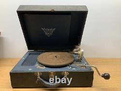 WORKS! Vintage Antique Portable RCA Victrola Suitcase Phonograph Record Player