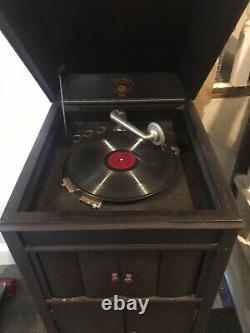 Working Columbia Grafonola Phonograph Vintage Record Player Victrola